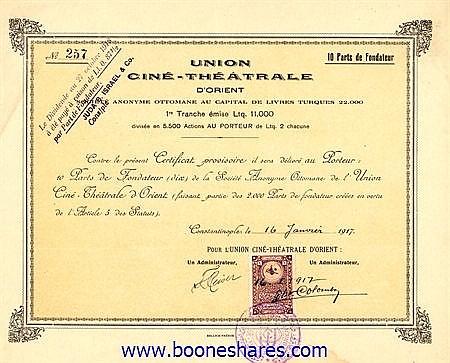 UNION CINE-THEATRALE D'ORIENT S.A.