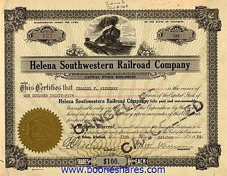 HELENA SOUTHWESTERN RAILROAD CO.