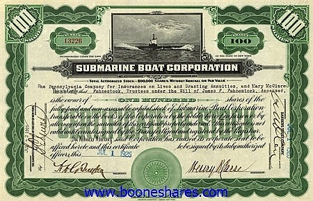SUBMARINE BOAT CORPORATION