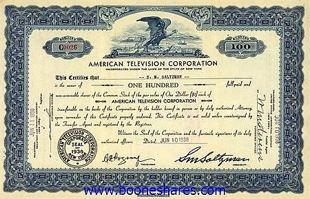 AMERICAN TELEVISION CORPORATION