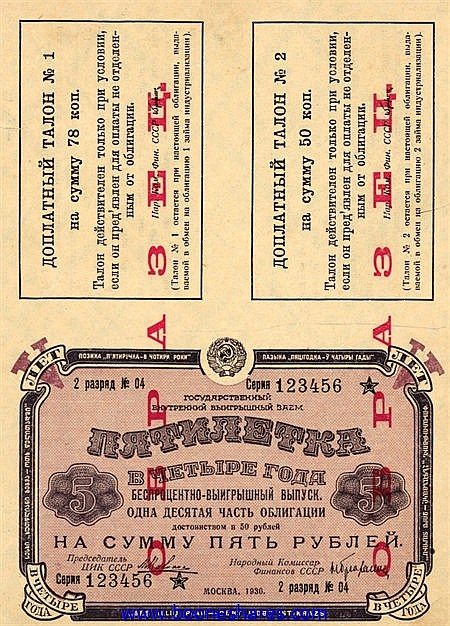 USSR INTERNAL LOTTERY LOAN