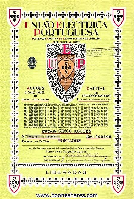 UNIAO ELECTRICA PORTUGUESA S.A. (2 types)