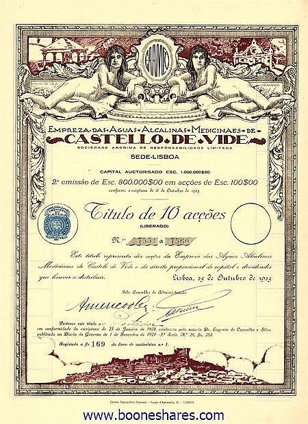 EMPREZA DAS AGUAS ALCALINAS MEDICINAES DE CASTELLO DE VIDE S.A.
