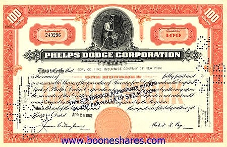 PHELPS DODGE CORPORATION