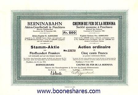 BERNINABAHN AG