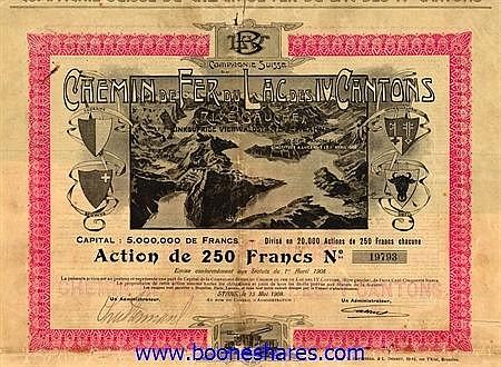 C.D.F. DU LAC DES IV CANTONS (RIVE GAUCHE) CIE. SUISSE DU