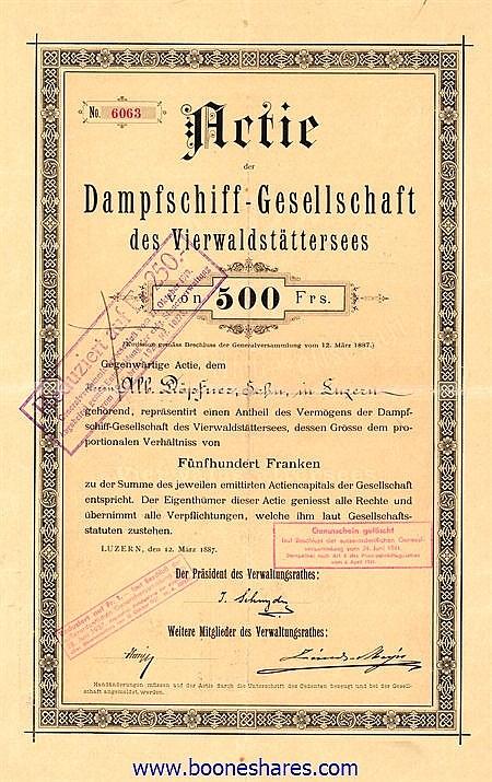 DAMPFSCHIFF-GESELLSCHAFT DES VIERWALDSTÄTTERSEES