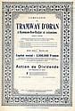 TRAMWAY D'ORAN A HAMMAM-BOU-HADJAR ET EXTENSIONS S.A., CIE. DU