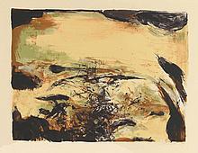 ZAO WOU KI (1921-2013) Composition Lithographie en couleurs, contresignée en bas à droite et numérotée 38/95 en bas à gauche. 43 x 57 cm