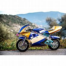 Pocket Bike, frein avant à disque, pourpre et or