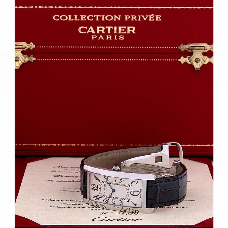 cartier tank cintr e platine collection priv e dition li. Black Bedroom Furniture Sets. Home Design Ideas