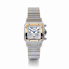 Cartier, Santos Chronoreflex, Ref. 2425, n° 101914BB, vers 2003.Un chrono