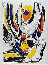 Meyer, Jan (Meijer) 1927-1995, silkscreen, sheet 760 x 550 mm on Zakarian Paris, edition H.C. X/X., ÒPrintemps'