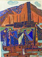 Meijer, Jan 1927-1995, gouache, 63 x 48 cm.