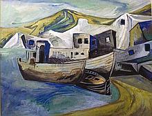 Meijer, Jan 1927-1995, gouache, 48 x 63 cm.