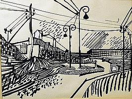 Meijer, Jan 1927-1956 12 drawings in ink 48 x 63