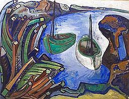 Meijer, Jan 1927-1958 watercolour 48 x 63 cm.
