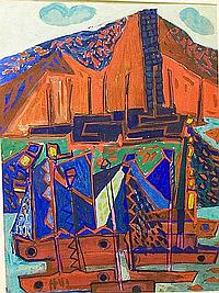 Meijer, Jan 1927-1959 watercolour 63 x 48 cm.
