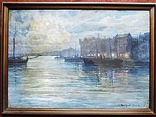 Gardell-Ericson, Anna 1853 Visby-1939 Stockholm watercolor 34,5 x 49,8 cm. Stockholm Nybroviken signed