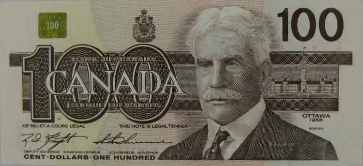 1988 Canadian 100 Dollar