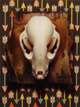 Julie Beck - Nature vs Nurture 5 / Oil on Canvas Panel / $600 / 8 x 6