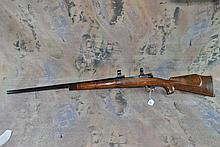 HINSON .222 bolt action Rifle w/rings heavy target