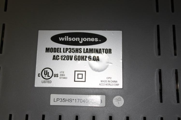 Wilson Jones Variable Heat Laminator Model Lp35hs