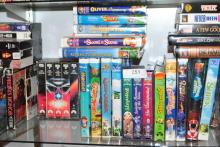 LARGE LOT OF MISC ADULT AND KIDS VHS MOVIES