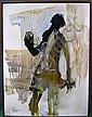 HOLLANDER, GINO (AMERICAN, b.1924): Modern oil on canvas. Figure. Signed, dated '73 lower left., Gino F Hollander, Click for value