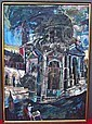 ATTRIB, CUNI, JOSE ALFONSO (SPANISH, b.1924): Oil on canvas. Cathedral on a canal. Unsigned., Josep Cuní, Click for value