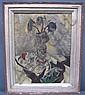 HARTMAN, BERTRAM (AMERICAN, 1882-1960): Oil on canvas. Still life with vase of flowers and shells., C Bertram Hartman, Click for value