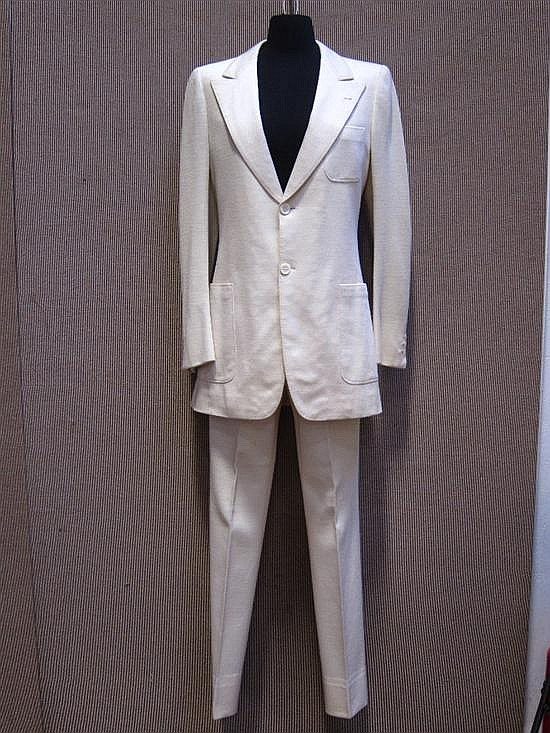 John Lennon White Suit From The Abbey Road Album Cover