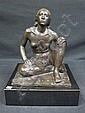 SCHEIBE, RICHARD (GERMAN, 1879-1964): Bronze. Seated female nude.