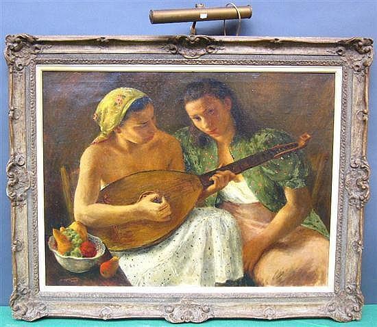 DAVIS, GLADYS ROCKMORE (AMERICAN, NY 1901-1967): Oil on canvas.