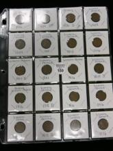 20 INDIAN HEAD AND LINCOLN PENNY'S 1906-1931