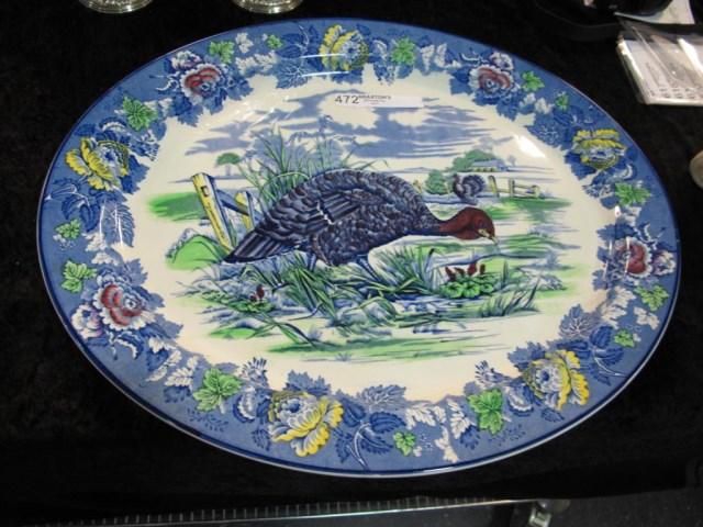 Large Woods Burslem England Turkey Platter 21 Long