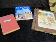 GONE WITH THE WIND COLLECTION BOOKS AND SCRAPBOOK