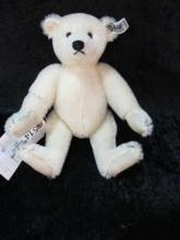 WHITE STIEFF BEAR 9IN