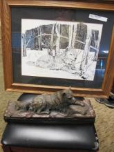 RICHARD BRUCE BRONZE & PIC RARE LIMITED W/ LTR 16