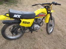 MX DIRT BIKE 2 STROKE 150 AS IS NEEDS MOTOR LOCAL PICK UP