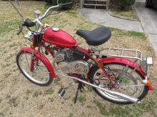 WIZZER MOTORCYCLE RED BELT DRIVEN  MORE INFO COMIG