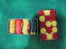 LOT OF 2 BAKELIGHT POKER CHIPS