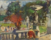 """Karl Stachelscheid, """"Im Schlosspark"""""""