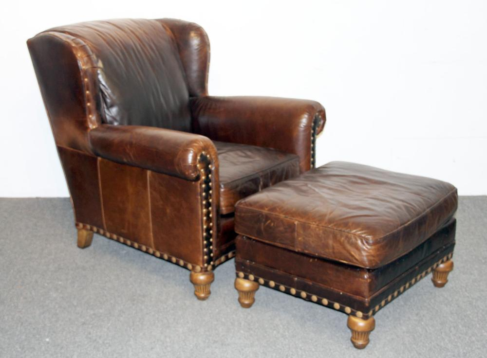 Phenomenal Wesley Hall Leather Lounge Chair And Ottoman Uwap Interior Chair Design Uwaporg