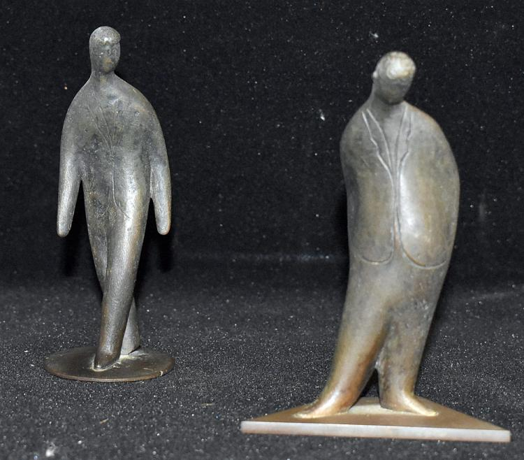 Two Carl Aubock Bronze Figures