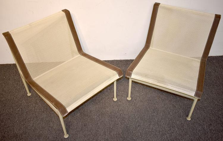 Two Richard Schultz Knoll Patio Lounge Chairs