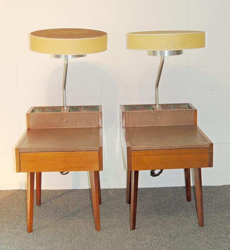 Pair of George Nelson Planter Lamp Tables