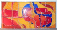 Modernist Stained Glass Panel