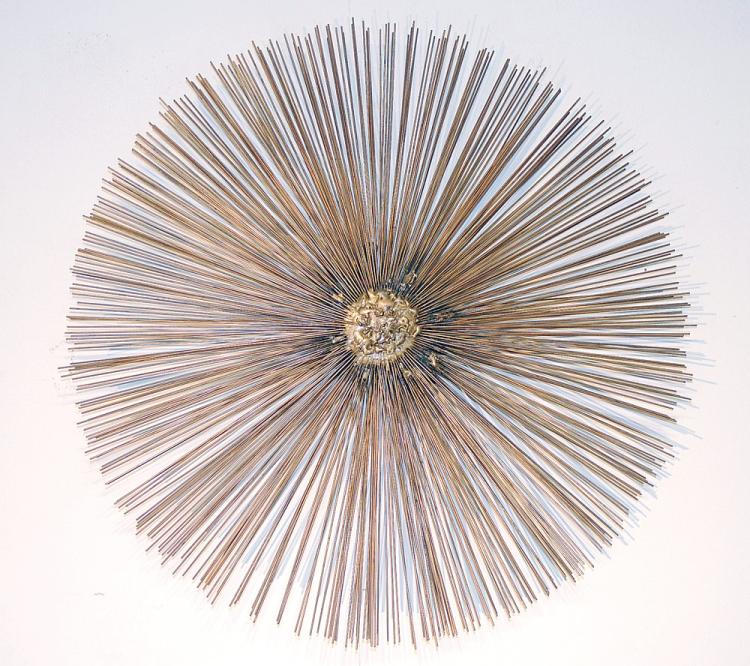 Modernist Welded Metal Sunburst Sculpture