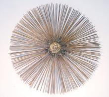 Modernist Welded Metal Sunburst Sculpture